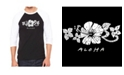 LA Pop Art Aloha Men's Raglan Word Art T-shirt