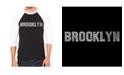 LA Pop Art Brooklyn Neighborhoods Men's Raglan Word Art T-shirt