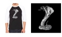 LA Pop Art Types of Snakes Men's Raglan Word Art T-shirt