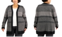 Karen Scott Plus Size Textured Open-Front Cardigan, Created for Macy's