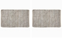 """Home Weavers Avalon Leather Accent 24"""" x 36"""" Rug"""