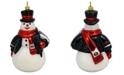 Joy to the World University of Georgia Collegiate Snowman Ornament