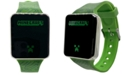 Accutime Kid's Minecraft Green Silicone Strap Touchscreen Watch 36x33mm
