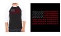 LA Pop Art Men's Raglan Word Art T-shirt - God Bless America