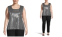 Kasper Plus Size Sequin Tank Top
