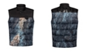 HUGO Men's Balto Vest Puffer Jacket with Marble Allover Print and HUGO Logo on Back Shoulders