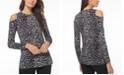 Michael Kors Plus Size Cold-Shoulder Animal-Print Top