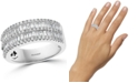 EFFY Collection EFFY® Diamond Baguette Double Row Ring (1-1/3 ct. t.w.) in 14k White Gold