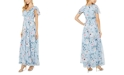 Adrianna Papell Floral-Print Chiffon Gown