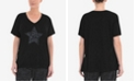 Live Unlimited Plus Size Printed Animal Star Slogan Tee