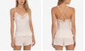Linea Donatella Satin Strappy-Back Cami & Tap Shorts Pajama Set