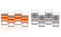 Fiesta Set of 4 Classic Stripe Juice Glasses
