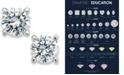 X3 Certified Diamond Stud Earrings in 18k White Gold, Created for Macy's