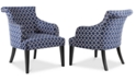Carriage Amp Co Tinsley Fabric Lattice Accent Chair Quick