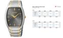 Seiko Men's Solar Two-Tone Stainless Steel Bracelet Watch 35mm SNE334