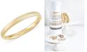 Italian Gold Signature Gold™ Textured Bangle Bracelet in 14k Gold over Resin