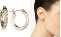 lonna & lilly Gold-Tone Pavé Crystal Hoop Earrings