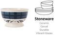 Fitz and Floyd Stoneware Bristol Indigo Tartan Soup Bowl