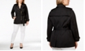 Michael Kors Plus Size Asymmetrical Zip-Front Trench Coat