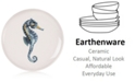 Fitz and Floyd Cape Coral Collection Seahorse Accent Plate