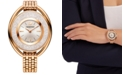 Swarovski Women's Swiss Crystalline Rose Gold-Tone PVD Stainless Steel Watch 37mm