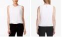 Calvin Klein Sleeveless Pleated Blouse