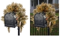 National Tree Company 3' Glittery Bristle Pine Mailbox Swag with Battery Operated LED Lights and Timer
