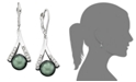Macy's Cultured Tahitian Pearl and Diamond Accent Earrings in 14k Gold (8mm)