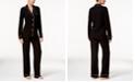 Cosabella Bella Satin-Trim Long-Sleeve Pajama Set AMORE9641, Online Only