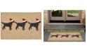 Liora Manne' Liora Manne Front Porch Indoor/Outdoor 3 Dogs Christmas Neutral Area Rug