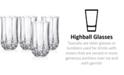 Longchamp Cristal D'Arques Set of 4 Highball Glasses