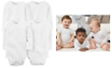 Carter's Baby Boys' or Baby Girls' 4-Pack Solid Bodysuits