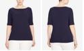 Lauren Ralph Lauren Plus Size Elbow Sleeve Top