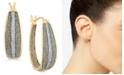 Macy's Diamond Glitter Hoop Earrings (1/3 ct. t.w.) in 18k Gold over Sterling Silver