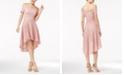 City Studios Juniors' Off-The-Shoulder Fit & Flare Dress