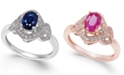 Macy's Sapphire (5/8 ct. t.w.) & Diamond (1/4 ct. t.w.) Ring in 14k Gold (Also Available in Certified Ruby)