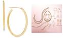 Macy's Polished Oval Flat-Edge Tube Earrings in 10k Gold