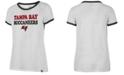 '47 Brand Women's Tampa Bay Buccaneers Striped Ringer T-Shirt
