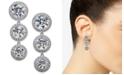 Eliot Danori Danori Silver-Tone Crystal Halo Linear Drop Earrings, Created for Macy's