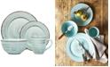 Home Essentials 16-Pc. Aqua Distressed Dinnerware Set