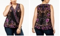 INC International Concepts I.N.C. Plus Size Surplice-Neck Top, Created for Macy's