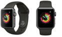 Apple Watch Series 3 AppleWatch Series3 GPS, 38mm Space Gray Aluminum Case with Black Sport Band