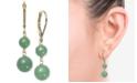 Macy's Dyed Jade  (6 & 8mm) Beaded Drop Earrings in 14k Gold