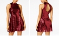 The Edit By Seventeen Juniors' Sequined Open-Back Dress