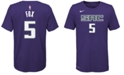 Nike DeAaron Fox Sacramento Kings Icon Name & Number T-Shirt, Big Boys (8-20)