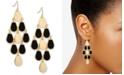 GUESS Gold-Tone Jet Stone Chandelier Earrings