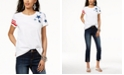 INC International Concepts INC Cotton Star-Patch Striped-Print T-Shirt, Created for Macy's