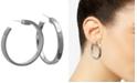 """GUESS Silver-Tone 1 1/2"""" Large Hoop Earrings"""