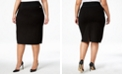 Calvin Klein Plus Size Pull-On Tummy-Control Pencil Skirt