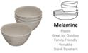 TarHong French Oak Melamine Cereal Bowl, Set of 4